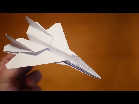 How to make an F-15 Paper Plane | Origami F-15 Jet Fighter Paper Plane