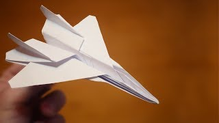 How to make an F 15 Paper Plane | Origami F 15 Jet Fighter Paper Plane