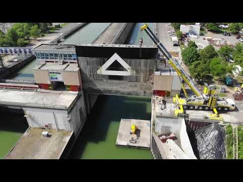 Travaux Sur Le Pont De Gambsheim Youtube