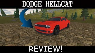 Dodge Hellcat Review in Vehicle Simulator ROBLOX