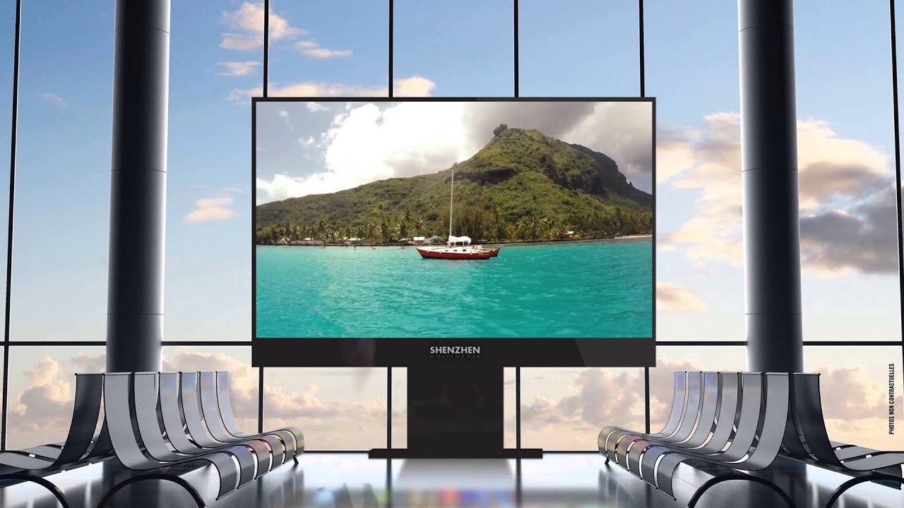 Affichage dynamique cran g ant led youtube for Ecran geant led exterieur