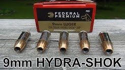 9mm 124 gr Federal HYDRA-SHOK Ammo Review