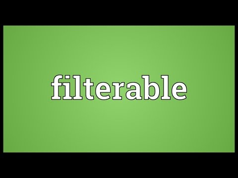 Header of filterable