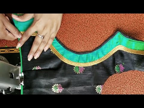 Very Beautiful Patchwork Blouse Back Neck Design Cutting And Stitching Blouse Designs Youtube