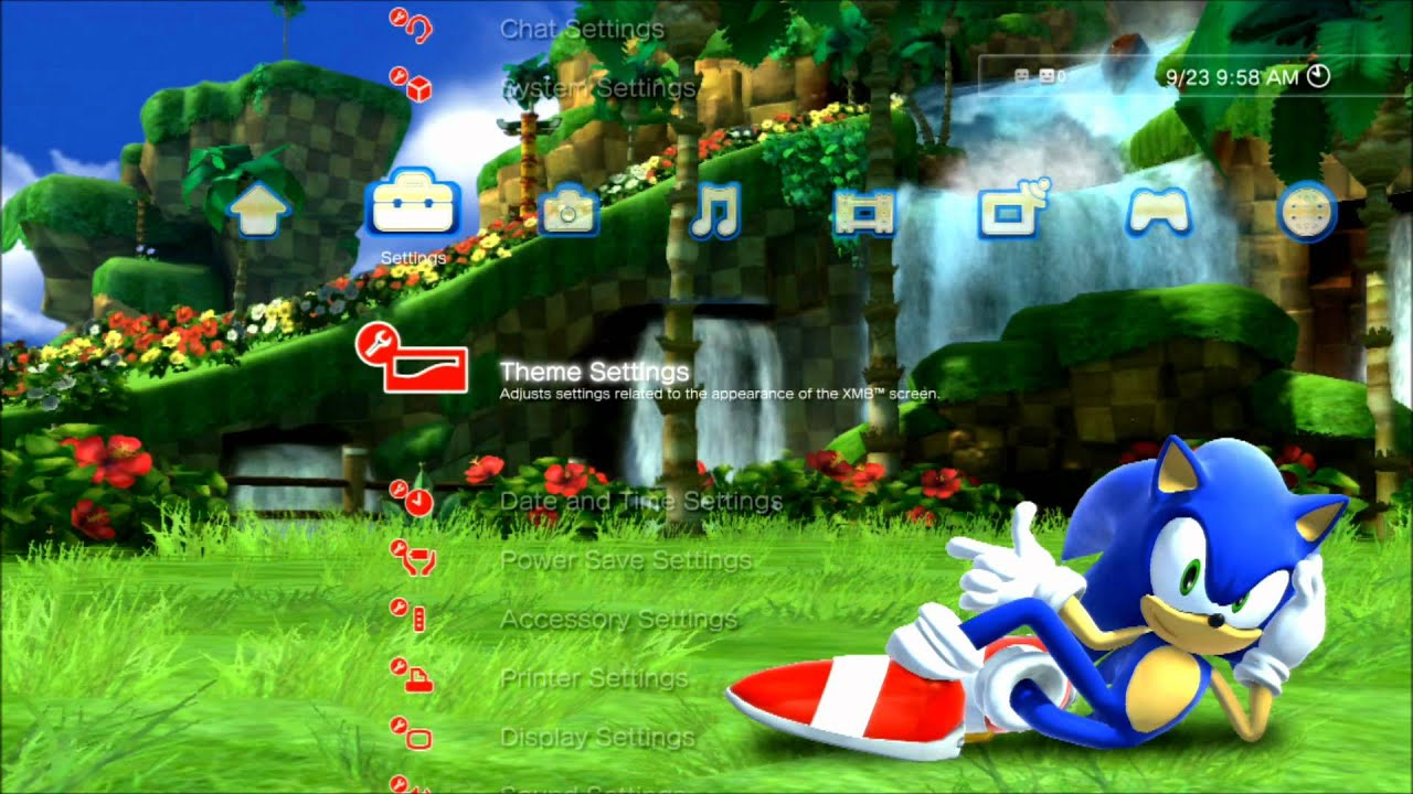 Sonic Generations Dynamic PS3 Theme - YouTube