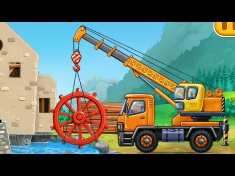 รถแม็คโครขุดดิน รถยก รถบรรทุก รถเครน รวมกันสร้างโรงสีใช้น้ำ DekDee เด็กดีแชแนล