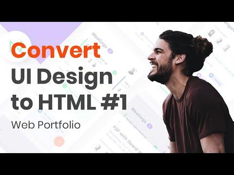 HTML Tutorial :  Convert UI Design To HTML #1 Navbar & Sidebar