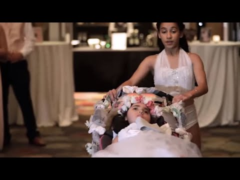 12-Year-Old Girl Dances With Sister In Wheelchair To Surprise Mom at Wedding
