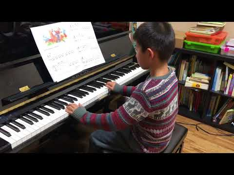 A Cowboy Song - Alfred's basic piano lesson book level 1b