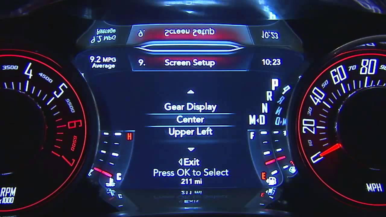 2015 Dodge Challenger Driver Information Display Did