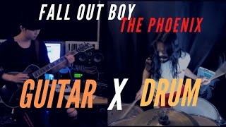Fall Out Boy - The Phoenix / Guitar X Drum COVER (Collabo with Guitar)
