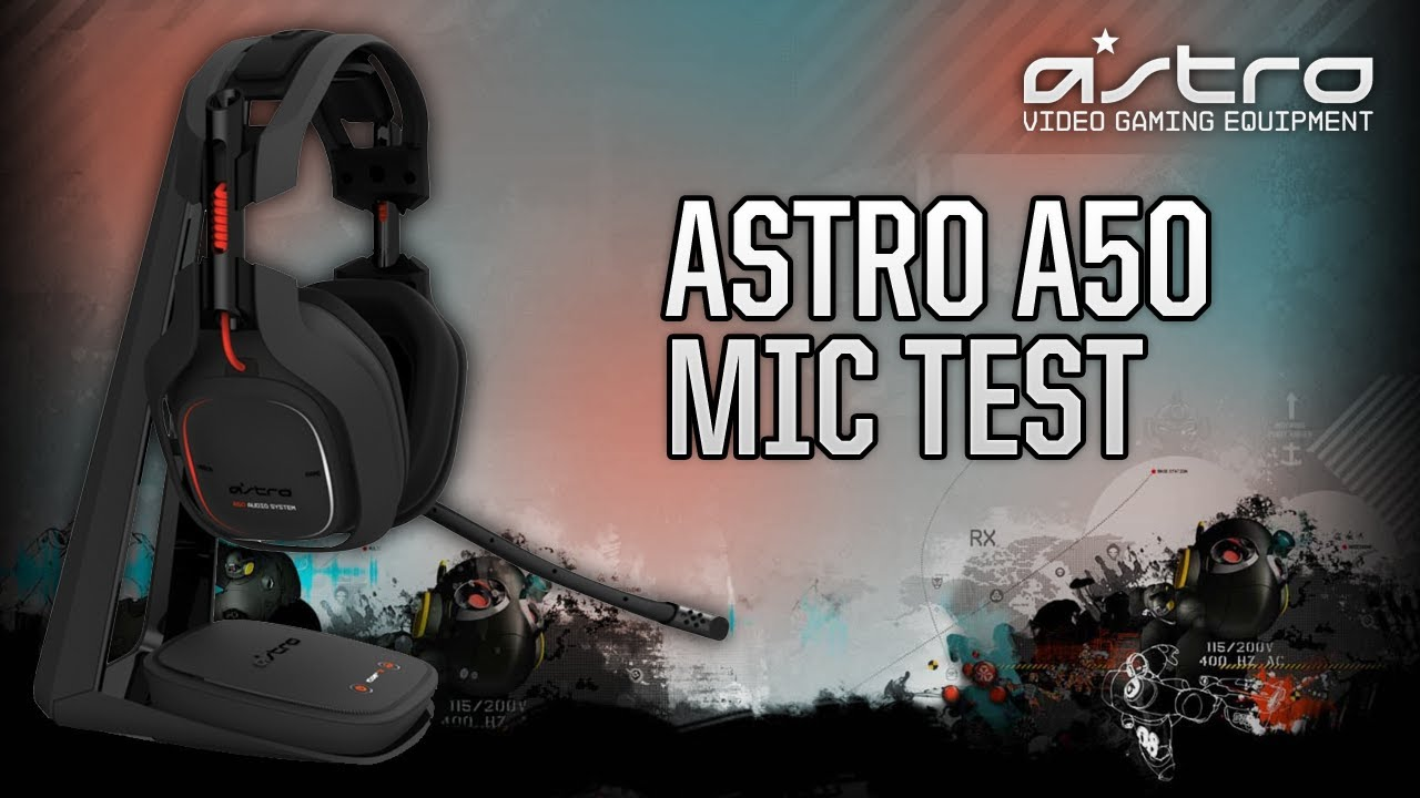 astro a50 wireless gaming headset microphone test youtube. Black Bedroom Furniture Sets. Home Design Ideas