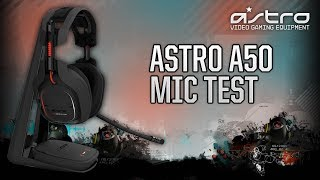 Astro A50 Wireless Gaming Headset - Microphone Test