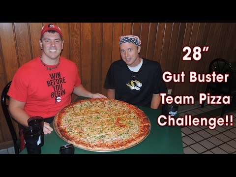 "28"" GUT BUSTER Veggie Pizza Challenge!! (HW #5)"