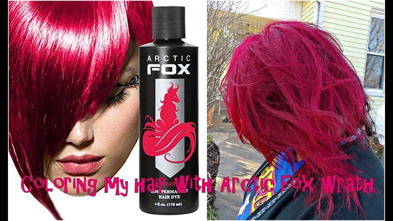 Coloring My Hair With Arctic Fox Wrath Youtube