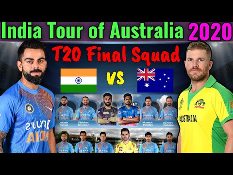 India Tour Of Australia 2020   BCCI Announced T20 Final Squad   India Vs Australia T20 Series Squad