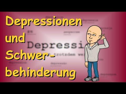 schwerbehinderung depression