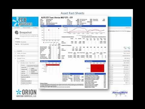 AdvisoryWorld Portfolio Analytics: Orion Advisor Integration