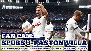 #Kane #Premier FAN CAM: Tottenham 3-1 Aston Villa: Kane Brace Gets Spurs the 3 Points!