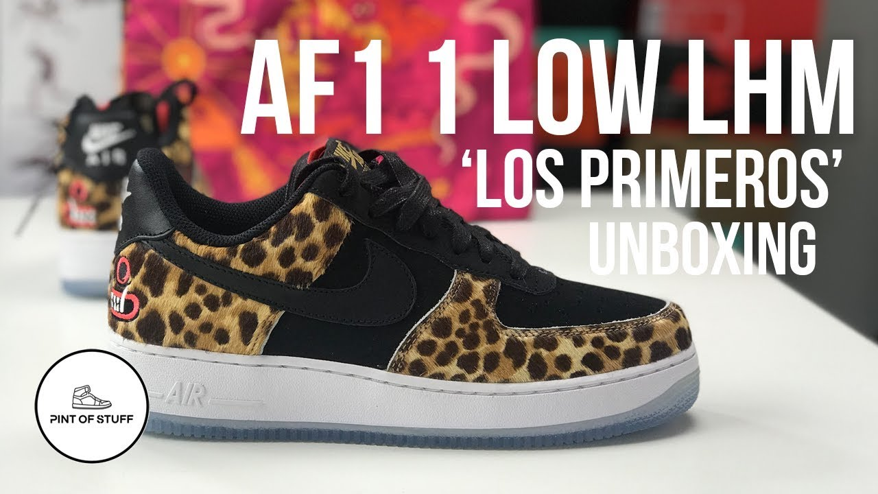 "official photos 384c3 f79a3 Nike Air Force 1 Low LHM ""Los Primeros""Sneaker Unboxing with SJ"