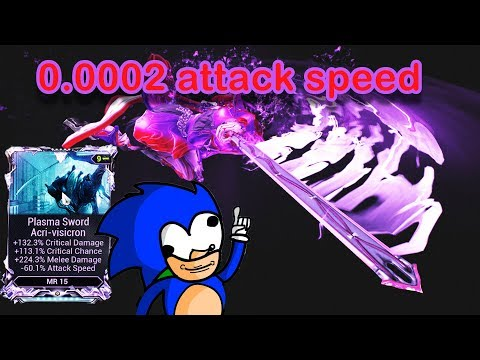 Warframe - Slowest Melee Speed Ever, 0.0002 Attack Speed Plasma Sword