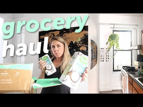 Healthy Grocery Haul + PLANTS | NYC Moving vlog thumbnail