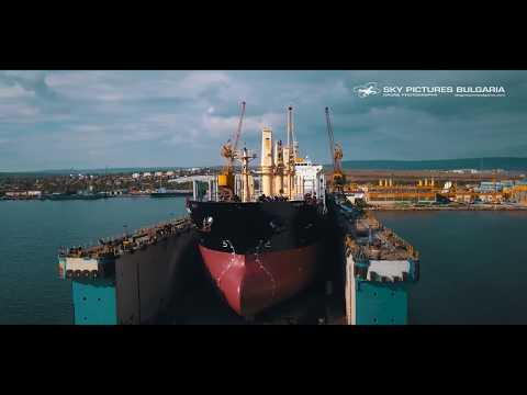 Shiprepair shipyard drone / aerial video