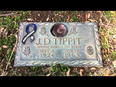 The grave of Officer J.D. Tippit