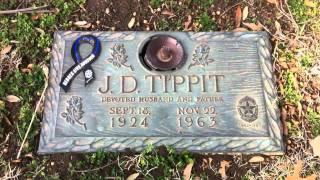 The grave of Officer J.D. Tippit