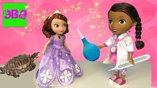 Доктор Плюшева лечит Софию Прекрасную, едем на пикник, видео для детей Doc McStuffins treats Sofia