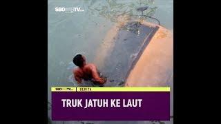TRUK JATUH KE LAUT #videotext