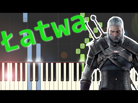 🎹 Grosza daj Wiedźminowi (Toss a coin to your Witcher) - Piano Tutorial (łatwa wersja) 🎹
