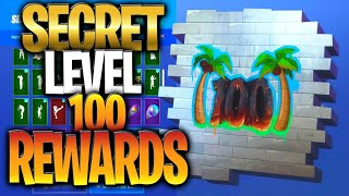 SECRET LEVEL 100 RÉCOMPENSEs IN FORTNITE BATTLE ROYALE (Niveau 100 Récompenses Cachées)