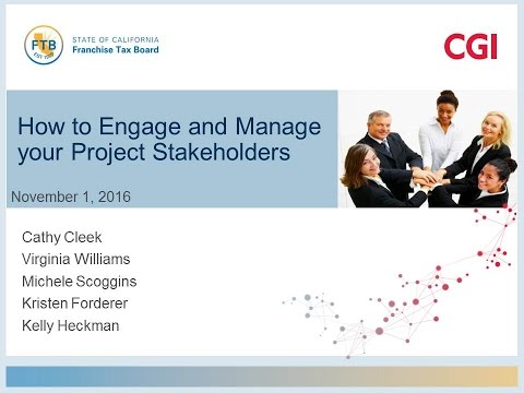 PD2016 S2(Pt 3): How to Engage and Manage your Project Stakeholders - CGI
