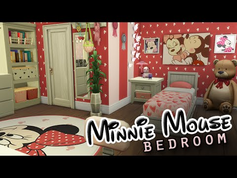 The Sims 4 Room Build  Minnie Mouse Bedroom  YouTube