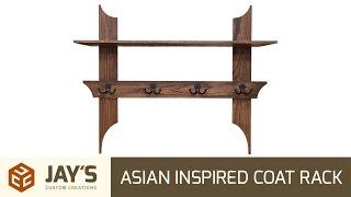 Asian Inspired Coat Rack - 249