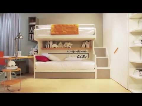 Cameretta A Castello Bambini.Composizione Cameretta Bambini Zalf Z235 Youtube