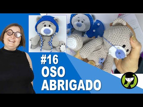 OSO NAVIDEÑO AMIGURUMI 16 oso tejido a crochet