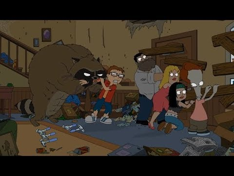 American Dad - The Smith Family Try To Flee A Raccoon