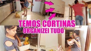 ORGANIZANDO AS COMPRAS + CORTINAS