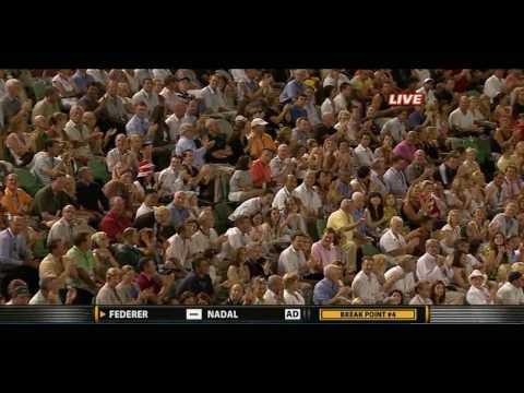 Tennis 2009 Australian Open Mens Final Federer vs Nadal    Insane rally 720p