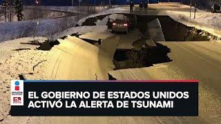 Intenso temblor de magnitud 8.2 sacude a Alaska