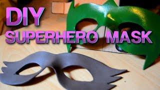 How To Make A Foam Superhero Mask - DIY