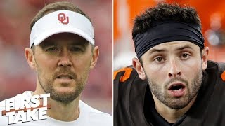Should Browns go all-in on Baker Mayfield and hire OU's Lincoln Riley as head coach? | First Take