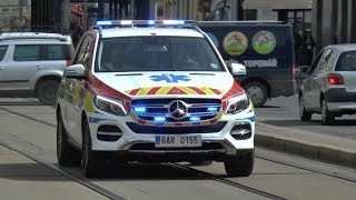 Emergency Vehicles Responding In Prague (4th of April 2018)