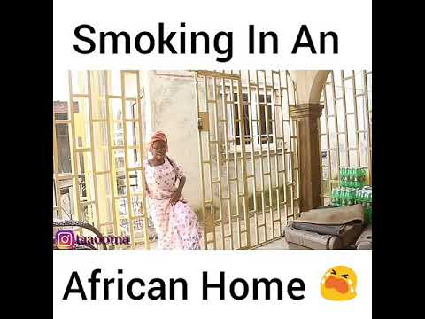 Smoking in a African home