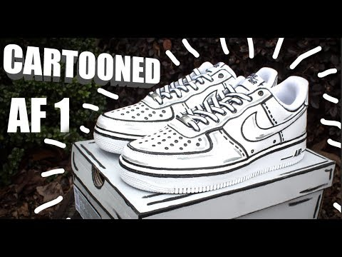 CARTOON AIR FORCE 1 CUSTOM! |