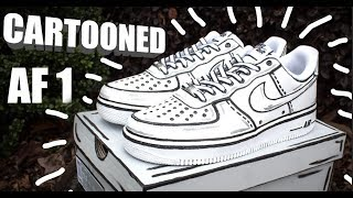 "CARTOON AIR FORCE 1 CUSTOM! | ""DoodleBob 1's"" 