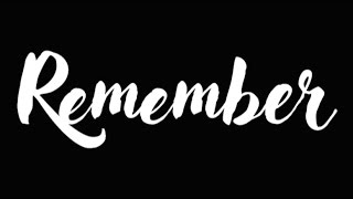 REMEMBER - A SHORT MOVIE BY X IPA 1