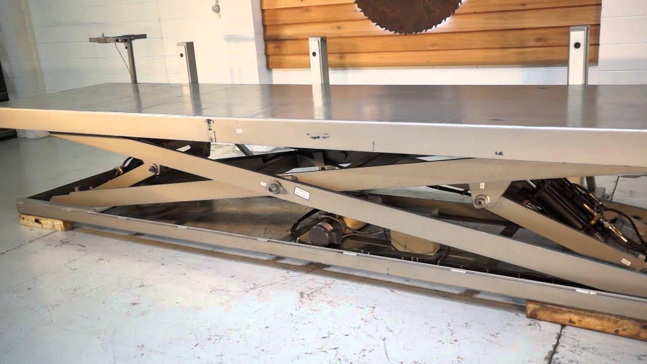 New 8000 Lb Hydraulic Scissor Lift Table 4 X 16 Youtube